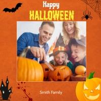 Halloween Greeting Post Instagram-opslag template