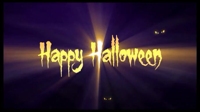 Halloween Greeting Zoom Animated Background Template Postermywall