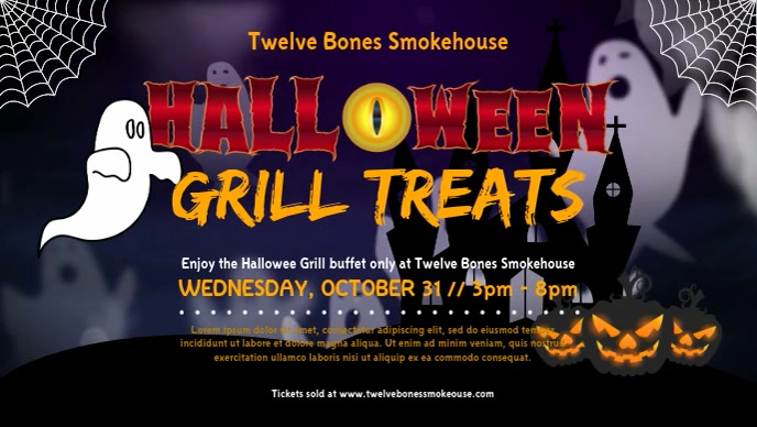 Halloween Grill Facebook Cover Video