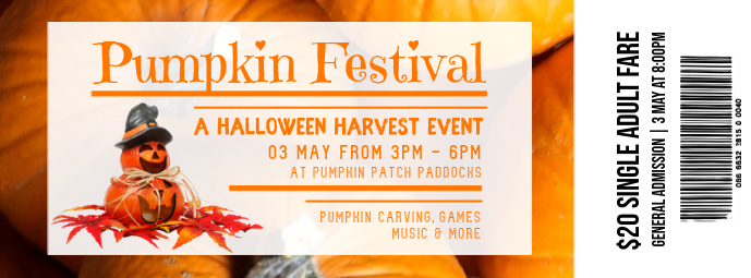 Halloween Harvest Event Ticket Design