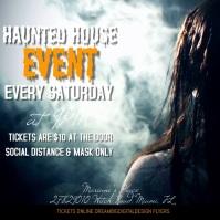 Halloween Haunted House Ad Publicação no Instagram template