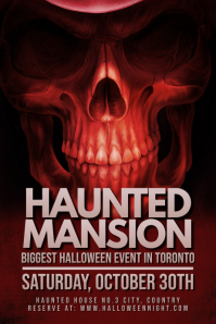 Halloween Haunted Mansion Event Template 海报