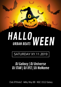 Halloween Hip Hop Party Urban Event Flyer Ad