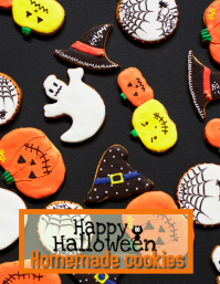 Halloween homemade cookies Flyer (US Letter) template