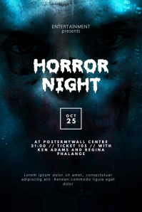Halloween horror Flyer Design Template
