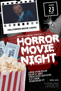 Halloween Horror Movie Night Flyer
