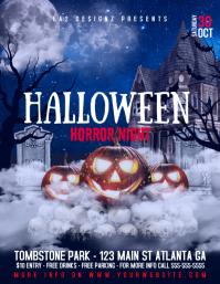 halloween horror night Folder (US Letter) template