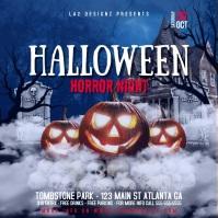 Halloween horror night - instagram post template