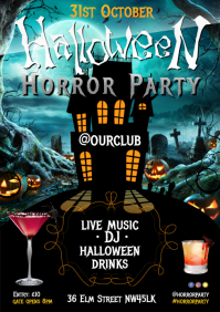 Halloween Horror Party Poster