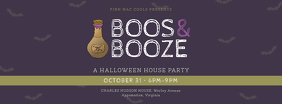 Halloween House Party Facebook Banner Template