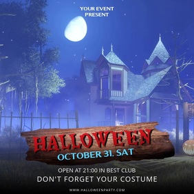 Halloween House Party Video Ad Template
