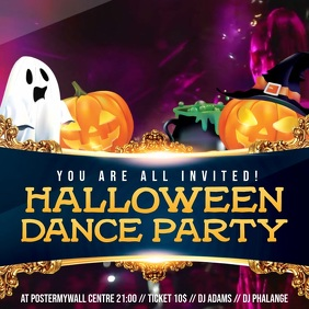Halloween House Party Video Invitation Template