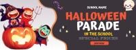 Halloween in school Facebook Cover Photo template