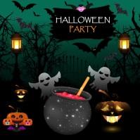 Halloween Instagram Banner Instagram-Beitrag template