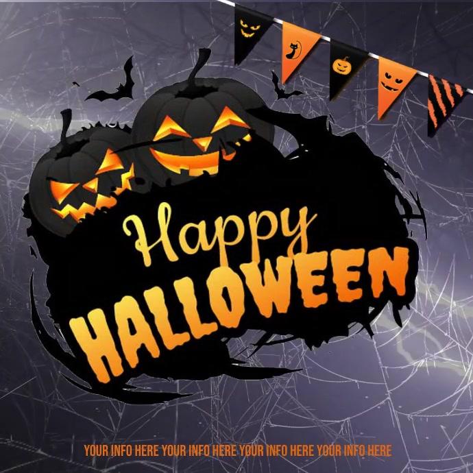 halloween instagram post, happy halloween template