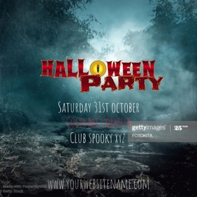 Halloween instagram post party event