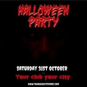 Halloween instagram post party event video