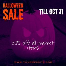 Halloween Instagram Sale Banner