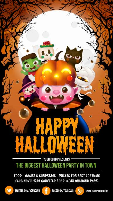 halloween instagram story, halloween template