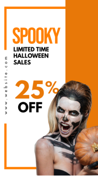 halloween instagram story advertisement sales template