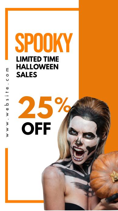 halloween instagram story advertisement sales template