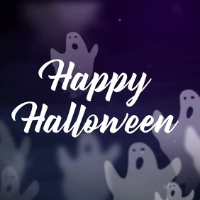 Halloween Instagram Video Greeting Template
