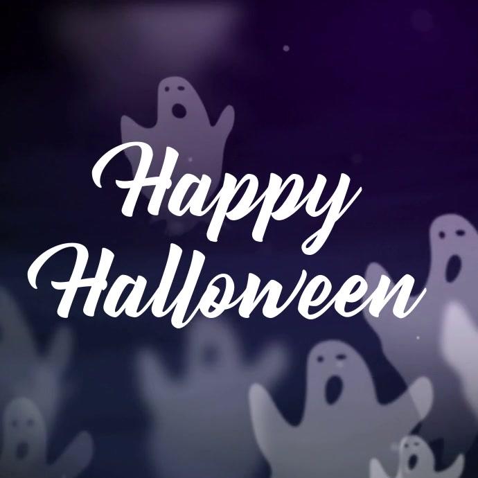 Halloween Instagram Video Greeting Template