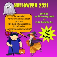 halloween invitation Instagram Post template