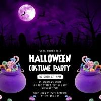 Halloween Invitation Wpis na Instagrama template