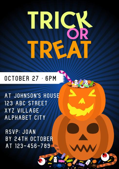 Halloween Invitation A4 template