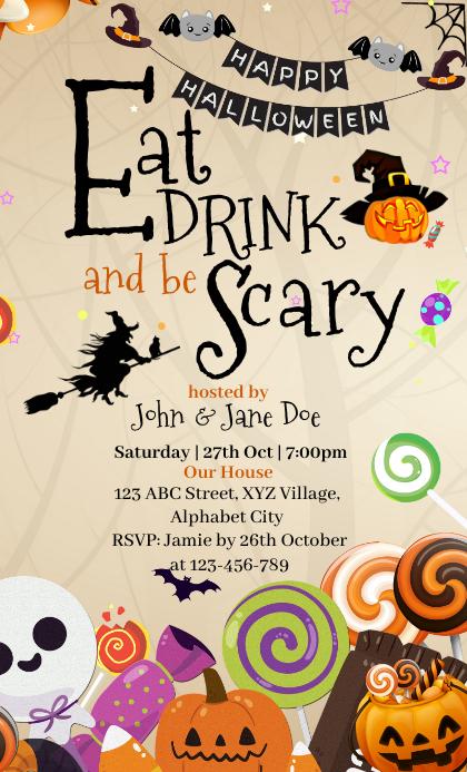 Halloween Invitation US Legal template