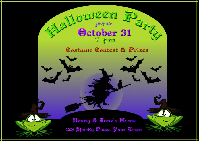 Halloween Invitation Postcard