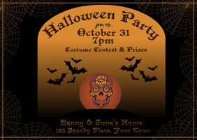 Halloween Invitation Postcard