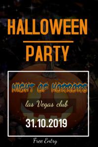 Halloween invite poster Плакат template