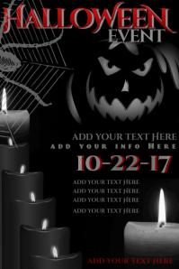 Halloween Jack Lantern Pumpkin Spider Web Blood Candle