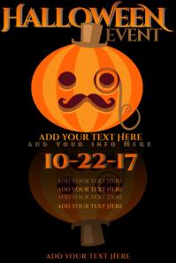 Halloween Jack Mustache Lantern Pumpkin Gentlemen November