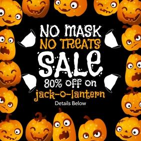 Halloween Jack-O-Lantern Sale Template Cuadrado (1:1)