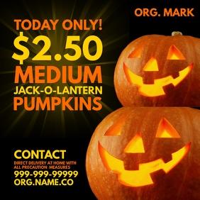Halloween Jack Pumpkin Sale Template Square (1:1)