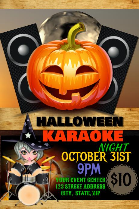 Halloween Karaoke Template