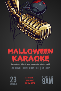Halloween Karaoke Flyer Template Poster