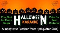 Halloween Karaoke party Digitale display (16:9) template