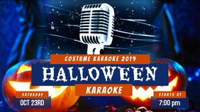 Halloween Karaoke Party Display Video Template