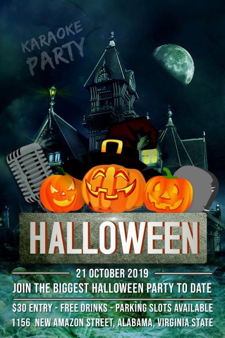 Halloween Karaoke Poster