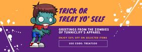 Halloween Kid's Apparel Sale Facebook Cover Template