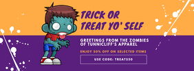 Halloween Kid's Apparel Sale Facebook Cover Template