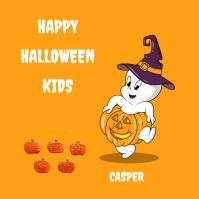 Halloween Kids Publicação no Instagram template