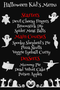 Halloween Kids Menu Template Poster