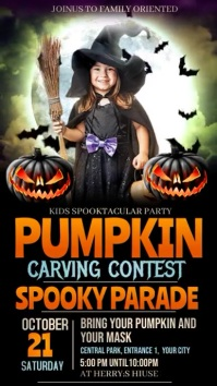 Halloween kids party,halloween Instagram Story template