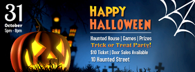 Halloween Kids Party Announcement Facebook Cover Template