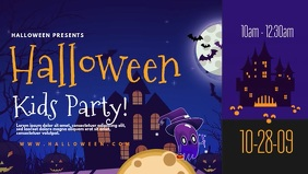 Halloween Kids Party Digital Display